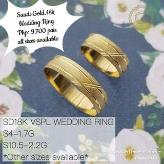 Saudi Gold 18k Wedding Ring