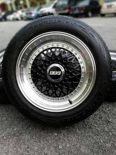 Bbs rs 15 inch sports rim persona tyre 70%. *mora mora kasi you happy*