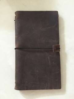 真皮旅行筆記本