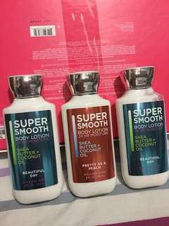 Bath and Body Works Super Smooth Body Lotion