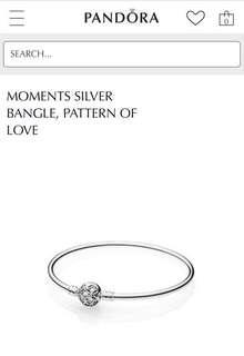 Pattern of Love limited edition Pandora bangle