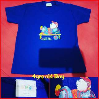 Blue Cotton Tshirt for 4years old Boy
