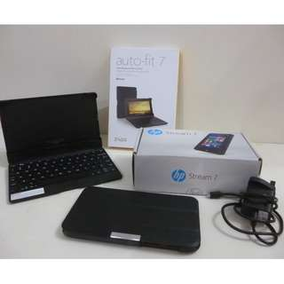 HP Stream 7, Pocket Windows PC + Keyboard Cover + Extras