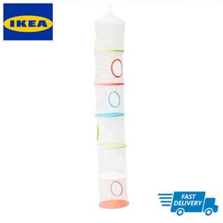 IKEA PS FÅNGST Hanging storage w 6 compartments, multicolour