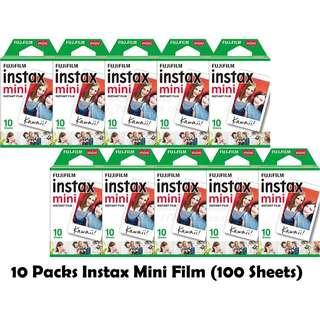 (10 packs of 10 films) Instax Plain Film