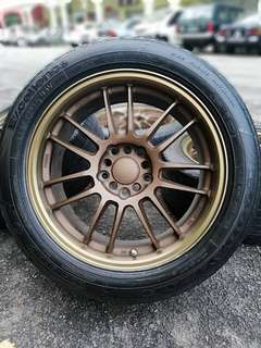 Re30 17 inch sports rim toyota wish tyre 70%. *mora mora kasi you sinyum*