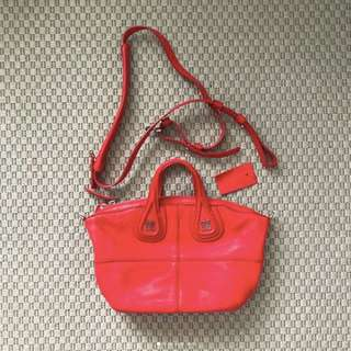 Givenchy Nightingale Micro Pebbled Leather Red