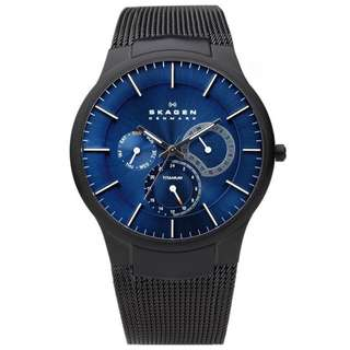 CHRONOGRAPH BLUE DIAL BLACK MESH BRACELET MEN'S WATCH 809XLTBN