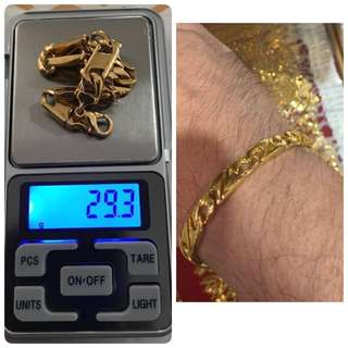 916 gold bracelet $55/g