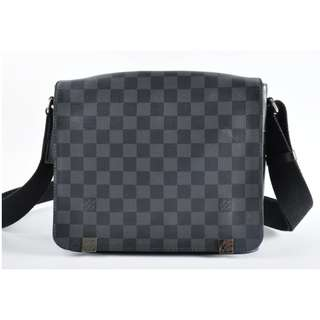 Authentic Louis Vuitton District PM Damier Graphite Sling Messenger Bag