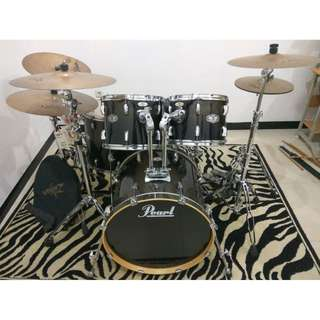 Drum / Drumset Pearl Vision Double Pedal + Zildjian ZXT Cymbal bekas