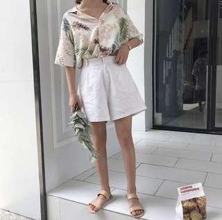 Tropical Floral Oversize Blouse #328