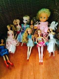 Preloved Barbie Dolls