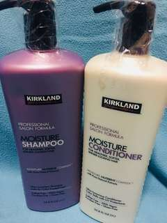 Imported Kirkland Moisture Shampoo and Conditioner 1L