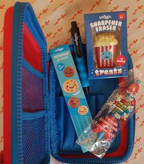 SMIGGLE Lucky Hardtop Pencil Case Set