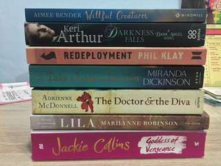 English Novels, novels, books