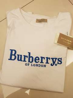 Burberry經典刺繡t上衣2018新款