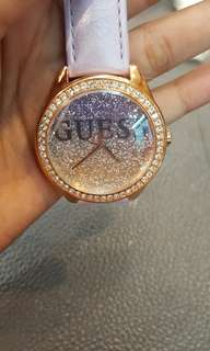 Guess wathces leather purple