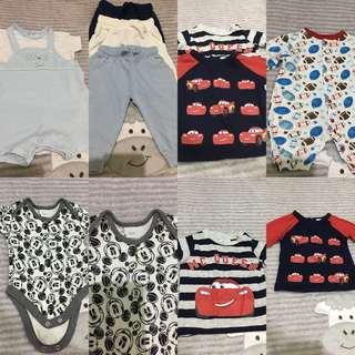Sale! Preloved Baby Boy Items (all for Php 600) can fit from NB - 6 months