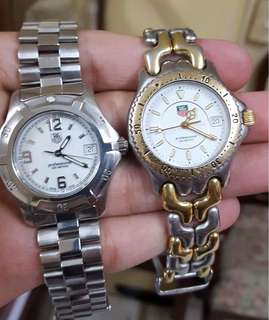 Authentic preloved Tag Heuer watch. 22,800 each