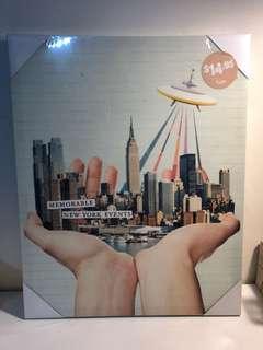 TYPO NEW YORK CANVAS PRINT BRAND NEW