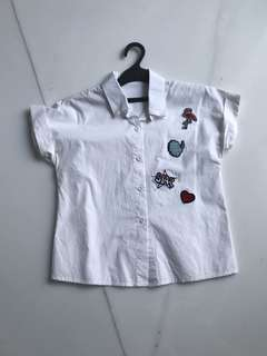 White Patches Shirt
