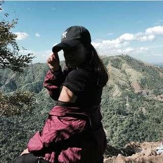 Maroon windbreaker jacket (perf for hiking)