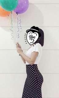 H&M fitted polka dot skirt