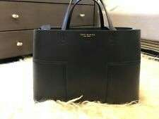 Tory Burch Black Block-T Triple Compartment Tote Bag