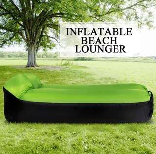 Inflatable Lounger Portable Air Beds Sleeping Sofa Couch