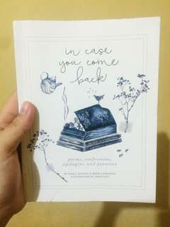 In case you come back Poetry Book