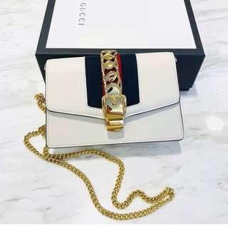 Gucci Sylvie super mini 鏈條包 16x10cm