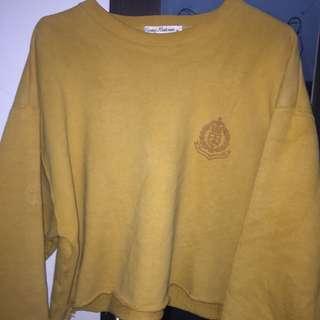 Crop Sweater/Hodie/ Tumbler Tee Kuning