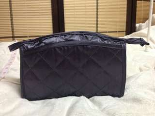 ROYAL BLUE QUILTED MAKEUP POUCH