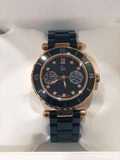 Guess GC Swiss Made Diver Chic Diamond Rose Gold Ceramic Watch