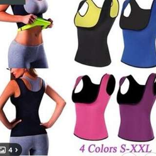 Neoprene Thermal Fat Burning Bodywear.m in a variety of colours and sizes.