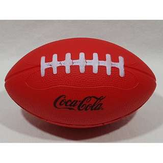 """Coca Cola Football Soft Sponge Red with Black Letters 7"""" Long X 4"""" Diameter"""