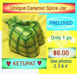 Unique Ketupat Ceramic Spice Jar