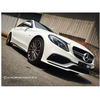Mercedes W205 AMG C63  PP Bumpers Bodykit