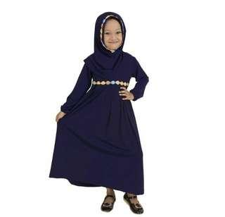 15 alina kids navy 98.000 Bahan jersey premium kombi renda pelangi,ld70 pj83 lbar rok keliling 150,4-6 (tergantung anak)