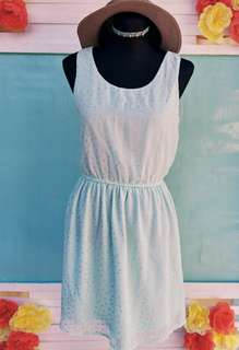 H&M Mint Silver Glitter Dress