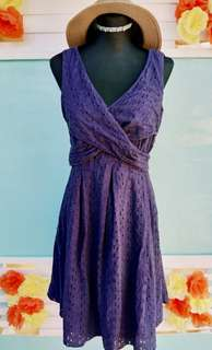 ✔️REPRICED Nine West Faded Blue Violet Dress