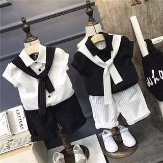 Korea style baby boy fashion cloth set