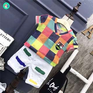 Korea style fashion baby boy sport style cloth set