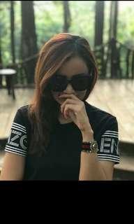 Kenzo black logo dress