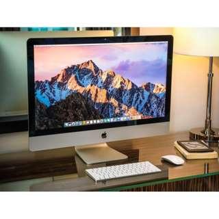 APPLE iMac 27 5K 3.3G R9-M395 2T Fusion Drive 近全新 保固至2019八月