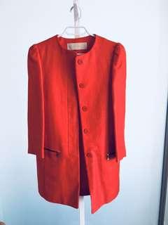 Zara Coat in Red - Size XS