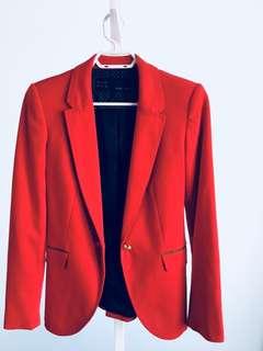Zara Blazer in Red - Size XS