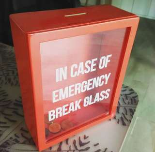 In case of emergency coin bank