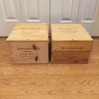 Two Wine Crates